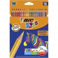 Набор цветных карандашей Evolution Stripes 18 шт. BIC