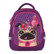 Рюкзак шкільний Bagland Butterfly Мопс фiолетовий суб.890 (56591)