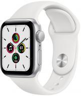 Смарт-часы Apple Watch SE GPS 44mm silver Aluminium Case with White Sport Band(MYDQ2UL/A)