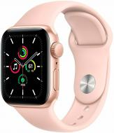 Смарт-часы Apple Watch SE GPS 44mm gold Aluminium Case with Pink Sand Band(MYDR2UL/A)