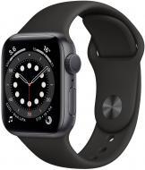 Смарт-часы Apple Watch Series 6 GPS 40mm space grey Aluminium Case with Black Sport Band(MG133UL/A)