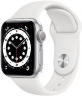 Смарт-часы Apple Watch Series 6 GPS 40mm silver Aluminium Case with White Sport Band(MG283UL/A)