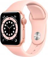 Смарт-годинник Apple Watch Series 6 GPS 44mm gold Aluminium Case with Pink Sand Sport Band(M00E3UL/A)