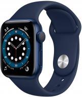 Смарт-часы Apple Watch Series 6 GPS 44mm blue Aluminium Case with Deep Navy Sport Band(M00J3UL/A)