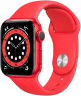 Смарт-часы Apple Watch Series 6 GPS 44mm (PRODUCT) red Aluminium Case with Red Sport Band(M00M3UL/A)