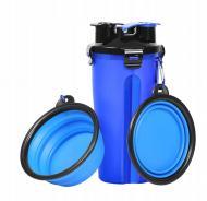 Туристический контейнер с миской для животных Синий (uy124266)
