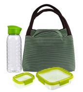 Набор термосумка с контейнерами и бутылкой зеленый Curver