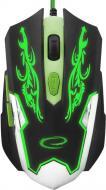 Миша ESPERANZA MX405 Cyborg black/green