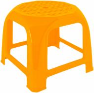 Табурет пластиковый Алеана Малятко 27x32x32 см оранжевый