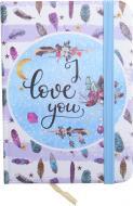 Книга для нотаток I love you А7 80 аркушів