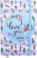 Книга для нотаток I love you А6 96 аркушів