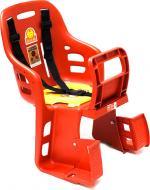Багажник велокрісло дитяче з кріпленням червоне ZY-004.2