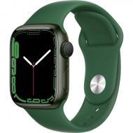 Смарт-часы Apple Watch Series 7 GPS 41mm green AluminiumCasewithCloverSportBand (MKN03UL/A)