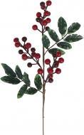 Гілочка декоративна з ягодами калини та листям 40 см 40348CF