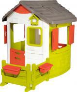 Ігровий будиночок Smoby лісника Нео з віконницями, з кутовою огорожею і 2 квітковими горщиками 810501