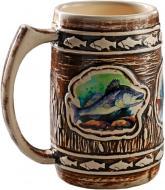Кухоль пивний Fish-Point керамічний коричневий 1 л