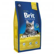 Корм для дорослих котів Brit Premium Лосось 8 кг