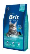 Корм для котів з чутливим травленням Brit Premium Свіже ягня та індичка 8 кг