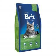 Корм для стерилізованих котів Brit Premium Курка 8 кг