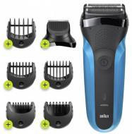 Електробритва-триммер Braun Series 3 310BT Wet&Dry black/blue