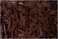 Мульча деревна декоративна колорована, колір КОРИЧНЕВИЙ 60 л фонова