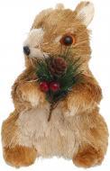 Декоративна фігура Білочка з гілочкою коричнева 20 см