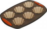 Форма для кексів Choco 6 шт. 4,1x29,8x21 см Flamberg