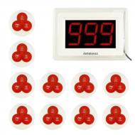 Система вызова официанта беспроводная с LCD дисплеем - оповещателем Retekess T114 + 10 кнопок (10039