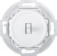 Механізм вимикача прохідний одноклавішний UP! (Underprice) Retro без підсвітки білий HSN-SWP.H1G1W2-WH