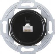 Механизм розетки компьютерная UP! (Underprice) Retro черный HSN-SCP.H1G1PC-BK