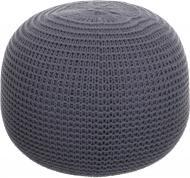 Пуф Бонди вязанный 40x28 см серый