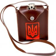 Фляга металлическая в чехле Герб Украины PT-18