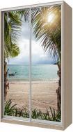 Шафа-купе Сити24 Doros 1400x600x2400 мм дуб сонома двері скло пляж