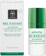 Крем для шкіри навколо очей Apivita Bee radiant для сяяння та зах. від передч. стар шкіри із стовбур. кліт.