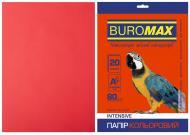 Папір офісний кольоровий Buromax A4 80 г/м Intensiv 20 аркушів BM.2721320-05 червоний