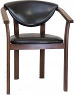 Кресло Алиса орех/черный