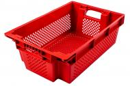 Ящик Пласт-Бокс поворотний перфорований червоний