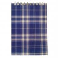 Блокнот на пружині, А6 48 аркушів Shotlandka, клітинка, картонна обкладинка, синій BM.2480-02 Buromax