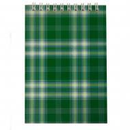Блокнот на пружині, А6 48 аркушів Shotlandka, клітинка, картонна обкладинка, зелений BM.2480-04 Buromax