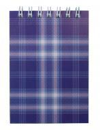 Блокнот на пружині зверху А7 48 л. Shotlandka, фіолетовий, клітинка, картонна обкладинка BM.2490-07 Buromax