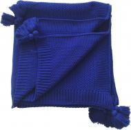 Плед в'язаний Olvia 140x180 см темно-синій SoundSleep