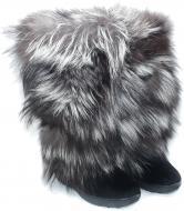 Ботинки Oscar Afterski Boots Leather Black-Silver р. 36 черный
