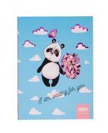 Блокнот Sweet Panda А5 64 аркушів Kids Line, блакитний ZB.12768-14 ZiBi