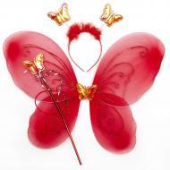 Набір карнавальний Бабочка червоний 517267