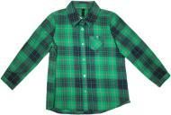 Рубашка детская YCC в клетку YCC 3644 р. 134-140 зеленый 16708