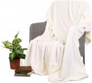 Плед Flannel Embossed Whisper White 160x200 см молочный La Nuit