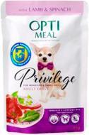 Корм Optimeal Консерва для собак з ягнятиною та шпинатом у соусі, пауч, 85г