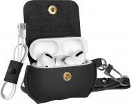 Чохол для навушників Promate Fay-Pro з еко-шкіри з ремінцем для Apple AirPods Pro black (fay-pro.black)
