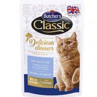Влажный корм для кошек Butcher`s Cat Delicious форель и треска 100 г (65085)