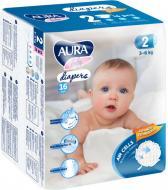Підгузки Aura 2/S 3-6 кг 16шт